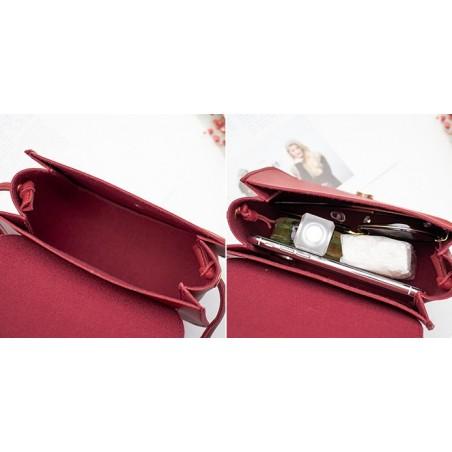 Torebka damska z ekoskóry mini czerwona T184CZE-M