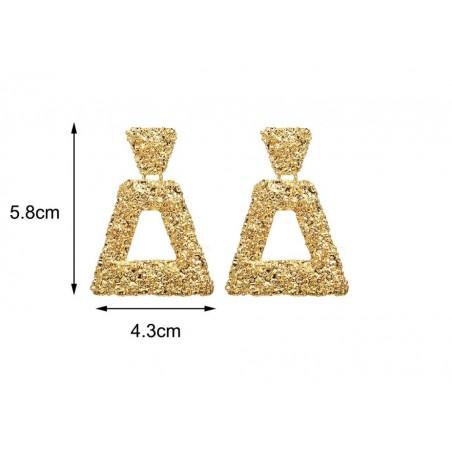 Kolczyki wiszące gothic złote K1162