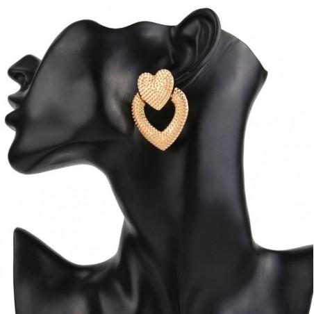 Kolczyki przy uchu serca K1140