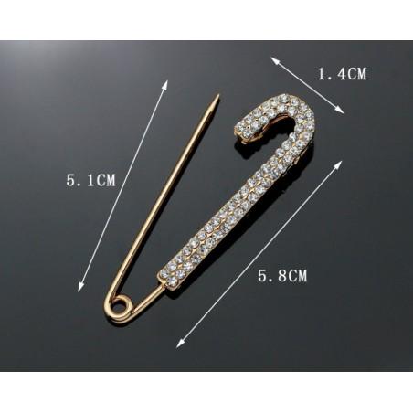 Broszka ozdobna agrafka kryształ BZ51