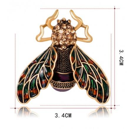 Broszka ozdobna owad brązy BZ52