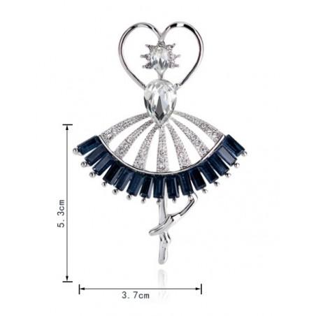 Broszka ozdobna rozeta baletnica BZ56