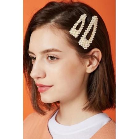 Spinka do włosów z perełkami perły złota SP33Z