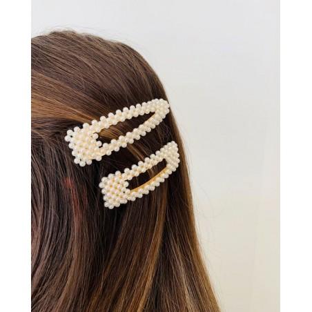 Spinka do włosów z perełkami perły złota SP34Z