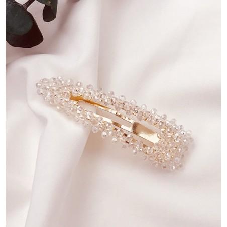 Spinka do włosów z kryształkami biel SP87B