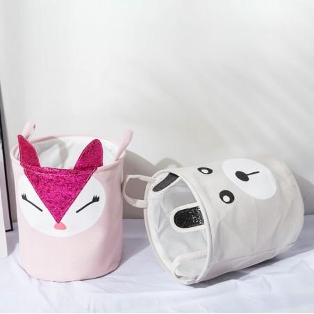 Pojemnik na zabawki kosz, worek na pranie królik różowy OR25