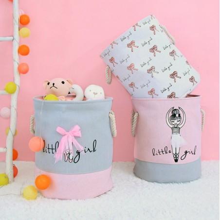 Behälter für Spielzeug, Korb, Wäschesack weiße Ballerina OR29WZ3