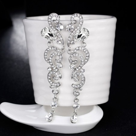 Kolczyki dżetowe ekskluzywne kryształ K1235