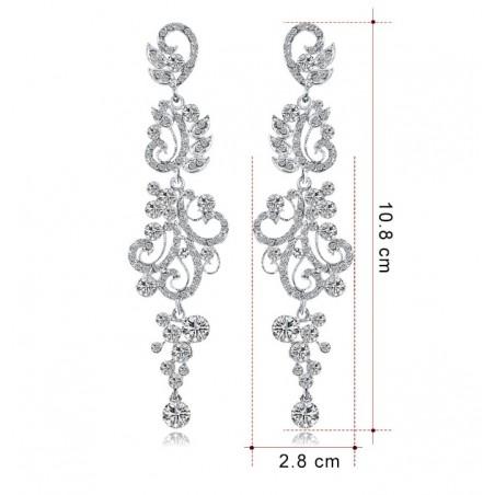 Kolczyki dżetowe ekskluzywne kryształ K1236
