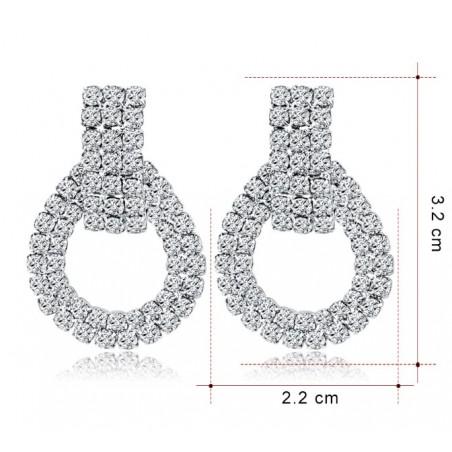 Kolczyki dżetowe ekskluzywne kryształ K1237