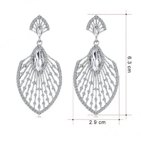 Kolczyki dżetowe ekskluzywne kryształ K1238