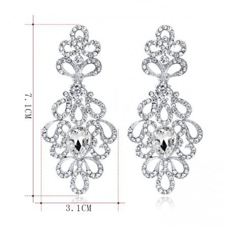 Kolczyki dżetowe ekskluzywne kryształ K1239