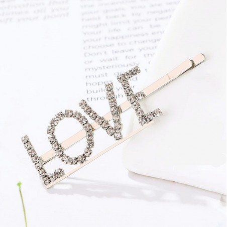 Wsuwka do włosów napis kryształ LOVE SP84Z