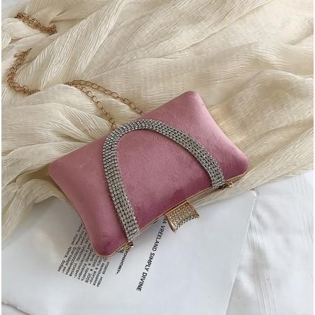 Torebka wizytowa, wieczorowa różowa elegancka, puzderko TW19R