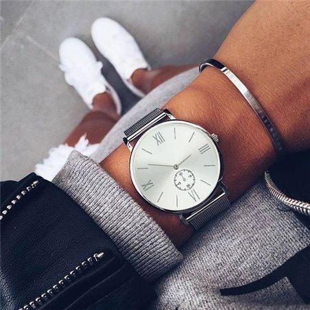 Zegarek srebrny na bransolecie Z464