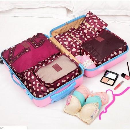 Organizer for suitcases, set of 6 sachets KS21WZ2