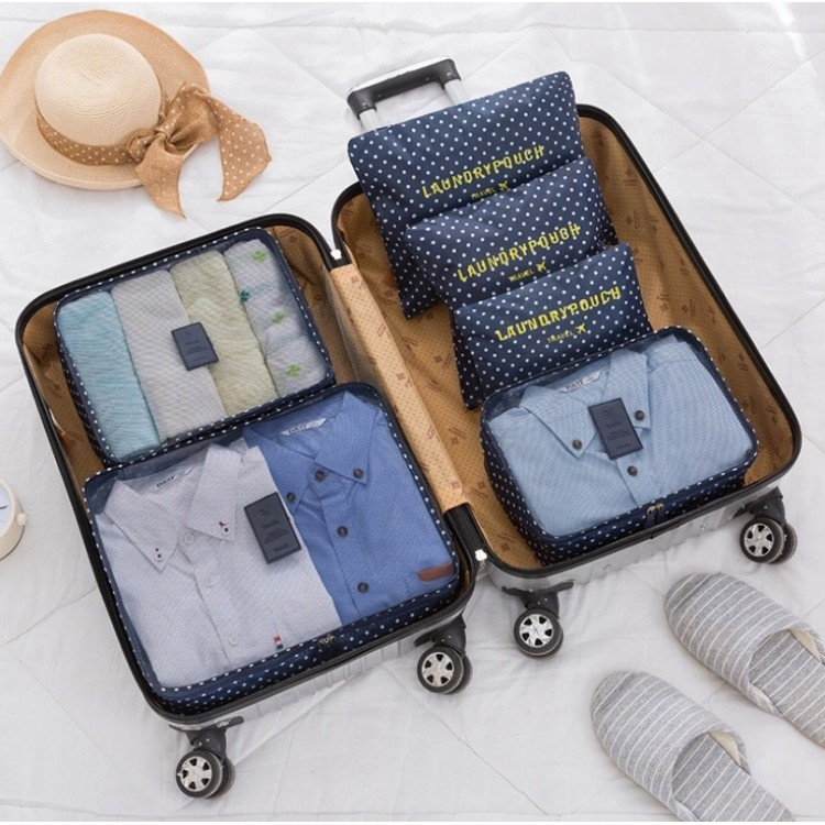 Organizer for suitcases, set of 6 sachets KS21WZ3