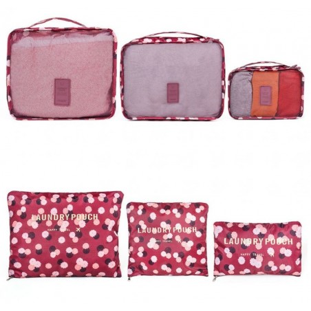 Organizer for suitcases, set of 6 sachets KS21WZ5
