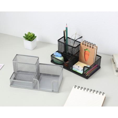 Organizer na biurko, przybornik, niezbędnik biurowy szary OR33SZ