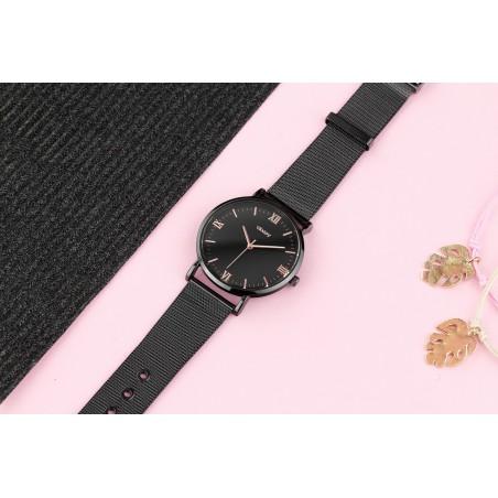 Zegarek damski classy czarny na bransolecie Z687