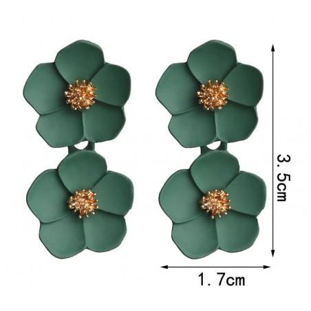 copy of Kolczyki wiszące duże kwiaty K1262ZIE