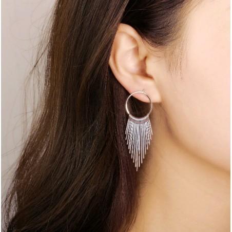 Kolczyki wiszące koła srebrne K1056S