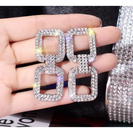 Kolczyki wiszące dżetowe K1257S