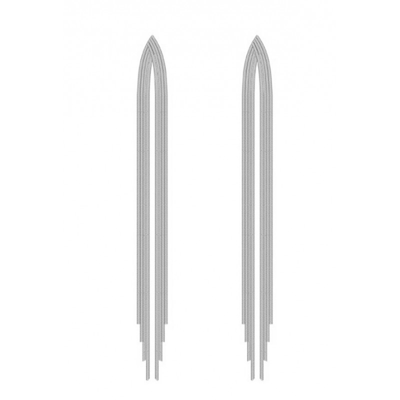 Kolczyki wiszące dżetowe K1228S
