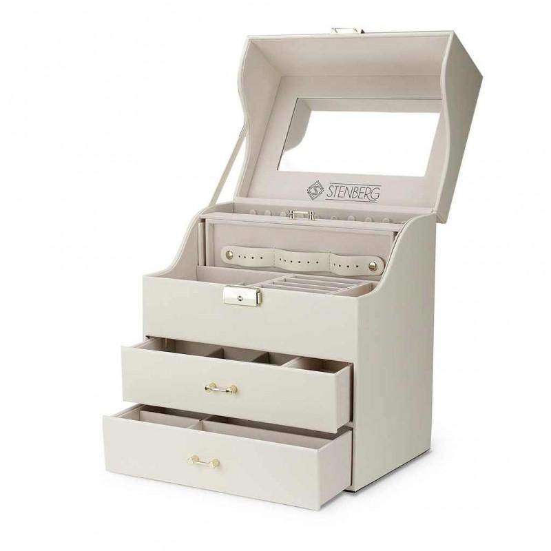 Szkatułka na biżuterię STENBERG kuferek, organizer PD96K