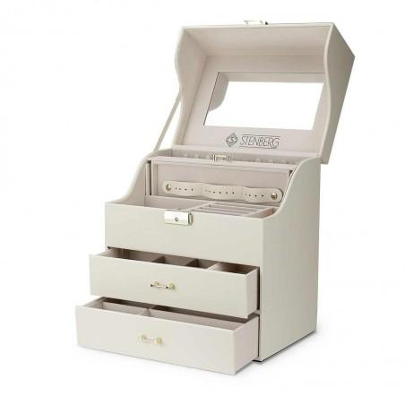 Szkatułka na biżuterię STENBERG kuferek etui organizer pudełko PD64B