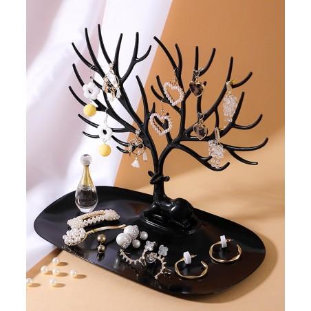 Ekspozytor na biżuterię - naszyjnik, pierścionki czarne drzewo E30