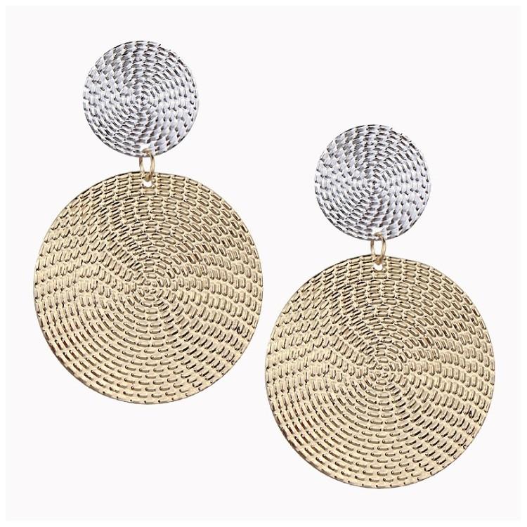 Kolczyki wiszące srebrno złote K1035