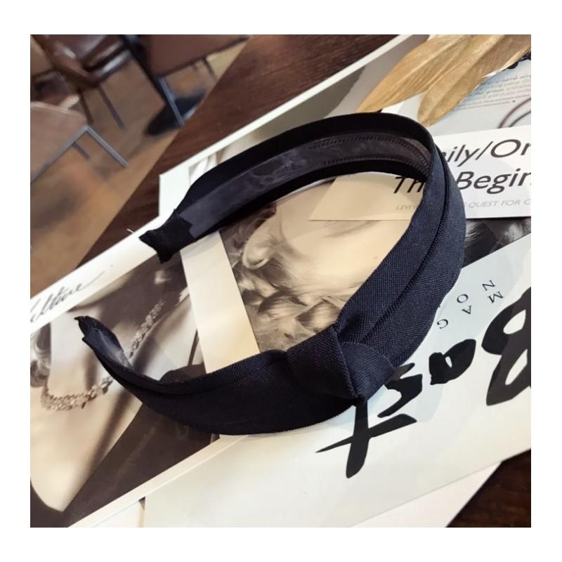 Opaska turban z materiału z kryształkami czarna O214CZ