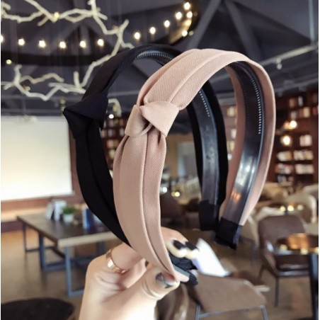 Opaska turban z materiału różowa O214R