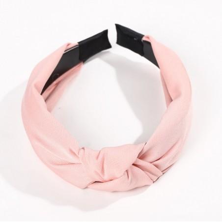Opaska turban z materiału różowa O228R