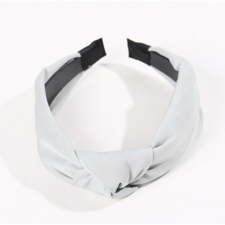 Opaska turban z materiału szara O228SZ