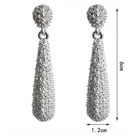 Kolczyki wiszące srebrne K1173S