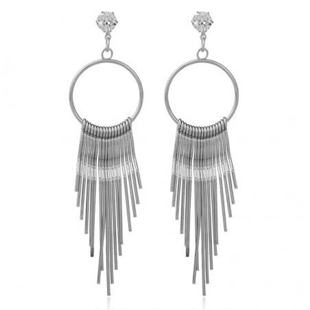 Kolczyki wiszące srebrne K1057S