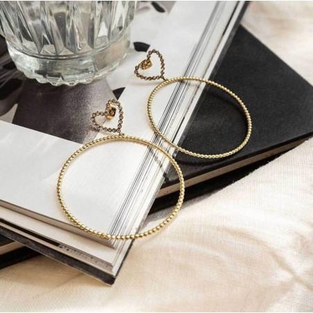 Kolczyki wiszące złote kolekcja serca K1266