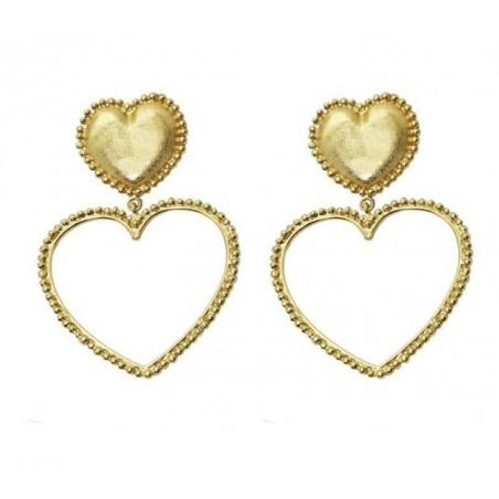 Kolczyki wiszące złote kolekcja serca K1267
