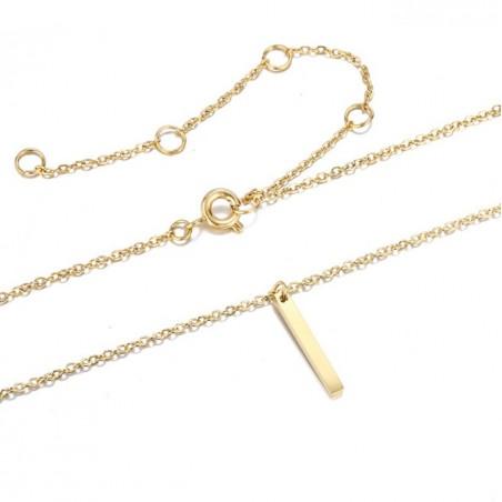 Naszyjnik celebrytka łezka złota stal chirurgiczna  NST893