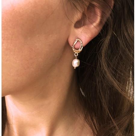 Kolczyki przy uchu perełki drobne K1253