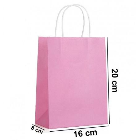 Torba papierowa mała różowa GF01