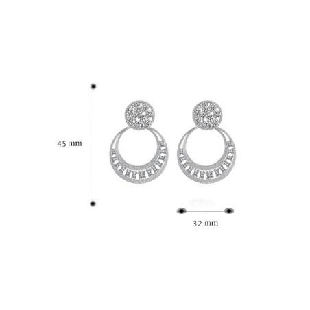 Kolczyki ślubne wiszące z kryształkami stal chirurgiczna KSL60