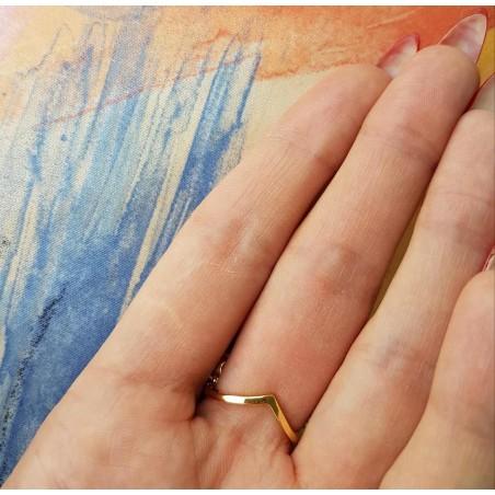 Pierścionek stal chirurgiczna platerowana złotem PST533Z