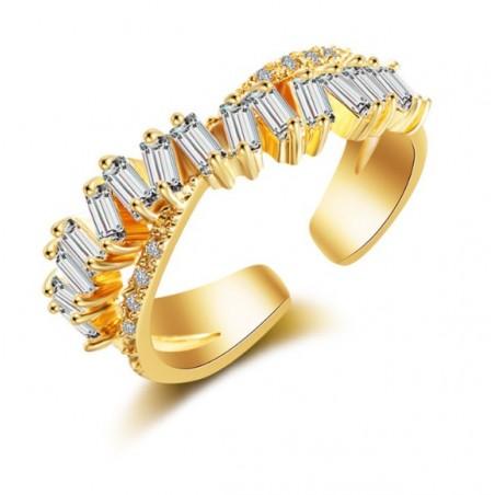 Pierścionek stal chirurgiczna platerowana złotem PST534Z