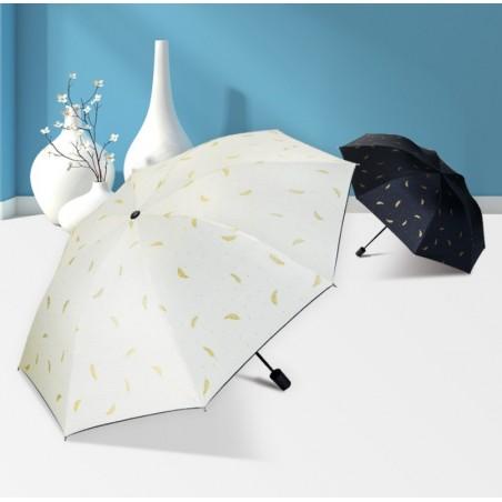 Parasol umbrella listki złote PAR08B