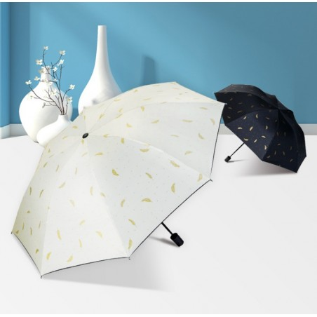 Parasol umbrella listki złote PAR08CZ