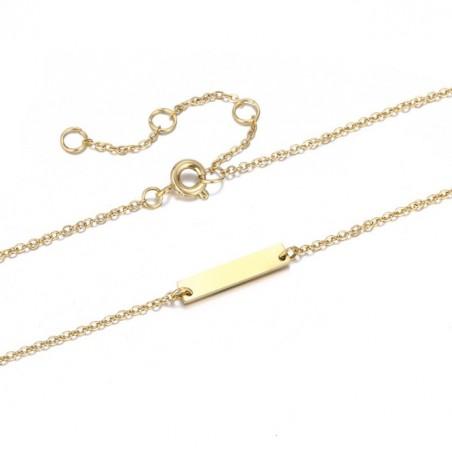 Naszyjnik celebrytka blaszka złota stal chirurgiczna  NST891