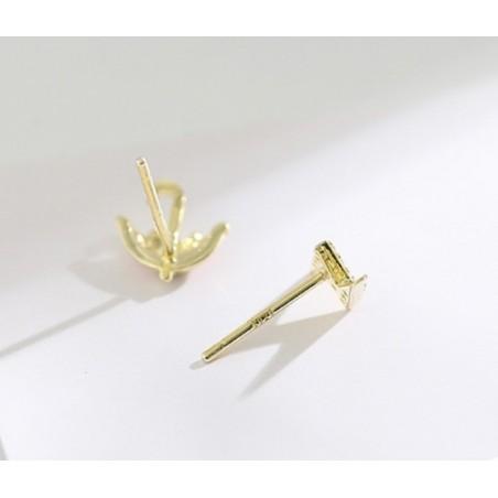 Kolczyki ze stali chirurgicznej platerowane złotem KST1418